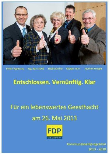 Programm 2013-2018 - FDP Geesthacht