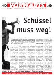 Seiten 4/5: 2003 - Das Jahr als Streiks nach Österreich kamen ... - SLP