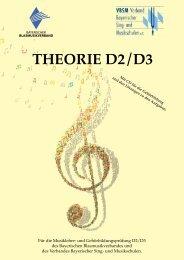 THEORIE D2 / D3 - Verband Bayerischer Sing