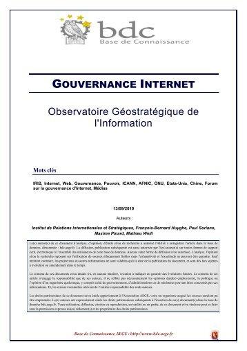 Gouvernance Internet - Base de connaissance AEGE