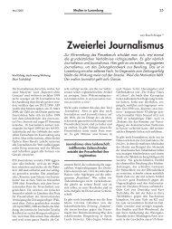 Zweierlei Journalismus - Forum – für Politik, Gesellschaft und ...