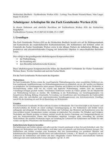 Heideschule Buchholz Fachkonferenz Werken