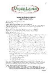 Protokoll der Mitgliederversammlung vom 22. März 2012