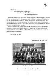 Ausgabe Juni 2009 - Gymnasium Borbeck