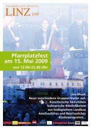 Programm Pfarrplatzfest (PDF) - Linz09