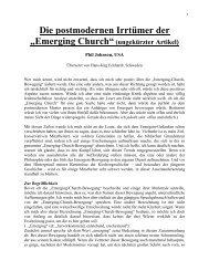 """Die postmodernen Irrtümer der """"Emerging Church""""(ungekürzter ..."""