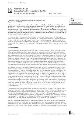 Arbeitsblatt 3.8 MDG 6: HIV/AIDS, Malaria und ... - Discover Sudan