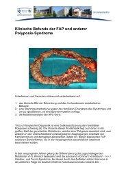 Klinische Befunde der FAP und anderer Polyposis-Syndrome