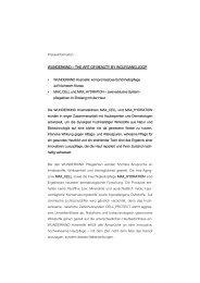 WUNDERKIND – THE ART OF BEAUTY BY ... - Internet Public Star
