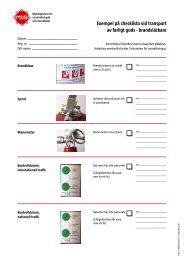 Exempel på checklista vid transport av farligt gods - brandsläckare