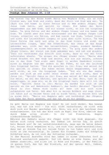 04.04 Johannes 20, 1-18 Ostersonntag (PDF) Pfr