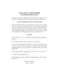 das lesen lateinischer liturgischer texte - Aktion alte Messe