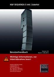 Benutzerhandbuch - Kling & Freitag