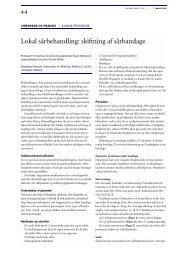 Lokal sårbehandling: skiftning af sårbandage - Skadebogen