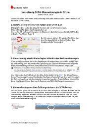 Umsetzung SEPA-Überweisungen in SFirm - Sparkasse Mainz