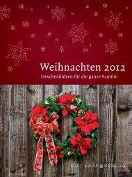 Weihnachtsprospekt 2012 - Friedrich Bischoff Verlag Frankfurt