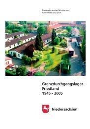 Broschüre GDL Friedland 1945 - 2005 - Niedersächsisches ...