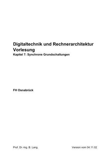 Digitaltechnik und Rechnerarchitektur Vorlesung