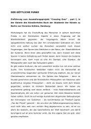 (Einführung Ausstellung MDC_DER GÖTTLICHE FUNKE) - PerZan
