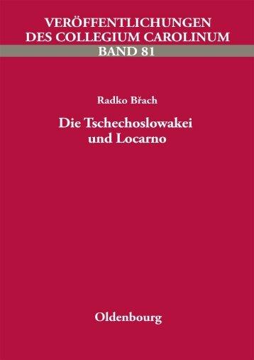 Inhalt und Vorwort - Collegium Carolinum