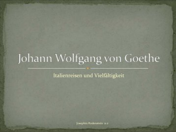 Johann Wolfgang von Goethe - Florian Sachs