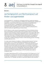 Bericht zum Fachgespräch - Arbeitsgemeinschaft der Evangelischen ...