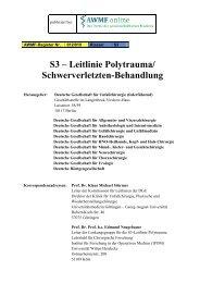 S3 – Leitlinie Polytrauma/ Schwerverletzten ... - medicalsci.com