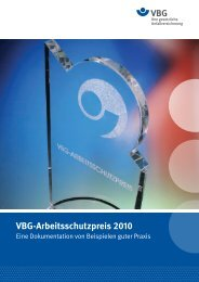 VBG-Arbeitsschutzpreis 2010 - Initiative Neue Qualität der Arbeit