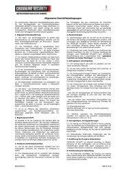 AGB - bei CROSSLINE SECURITY