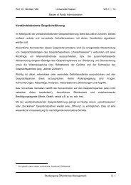 Verständnisbetonte Gesprächsführung - Universität Kassel