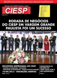 Rodada de negócios do ciesp em vargem grande paulista foi um sucesso