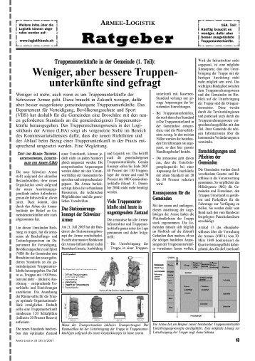 ARMEE-LOGISTIK Ratgeber