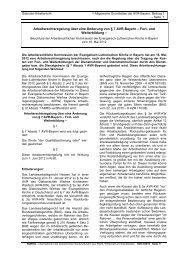Arbeitsrechtsregelung über eine Änderung von § 7 ... - ARK Bayern