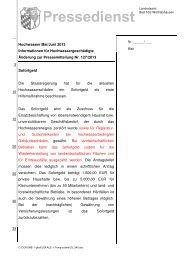Änderung der Pressemitteilung Hochwasser Mai/Juni 2013