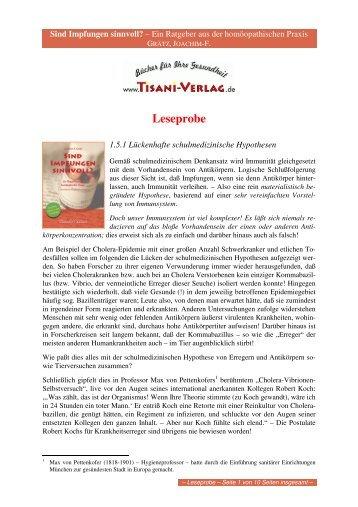 Leseprobe - Tisani Verlag