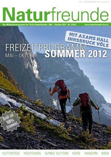 Programm Frühling Sommer 2012  - Naturfreunde Innsbruck