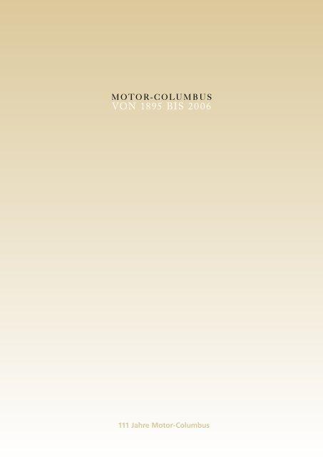 Motor-Columbus von 1895 bis 2006