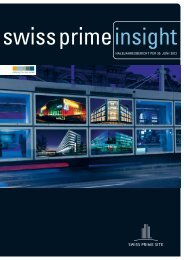 Zwischenberichterstattung per 30.06.2012 (PDF ... - Swiss Prime Site