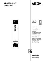 Betriebsanleitung - VEGACOM 557 - Interbus S
