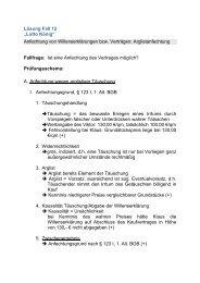 """Lösung Fall 12 """"Lotto König"""" Anfechtung von Willenserklärungen ..."""