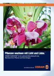 Pflanzen wachsen mit Licht und Liebe. - Osram