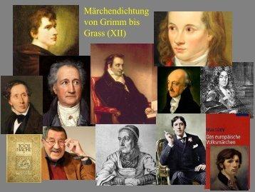Märchendichtung von Grimm bis Grass vom 05 ... - Heinrich Detering