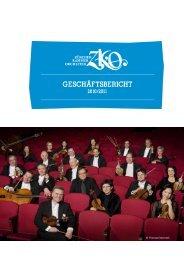 Geschäftsbericht Saison 2010/11 - Zürcher Kammerorchester