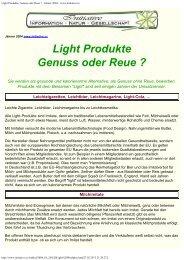 Light Produkte, Genuss oder Reue ? - Jänner 2004 ... - omnipath.at
