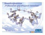 """Bewerbungsseminar """"Professionell und erfolgreich bewerben"""""""