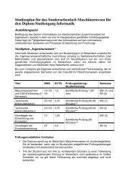 Sondernebenfach Maschinenwesen (pdf) - Fakultät für Informatik