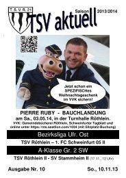 TSV aktuell Nr. 10 2013/14