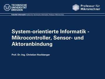 Mikrocontroller, Sensor - Professur für Mikrorechner