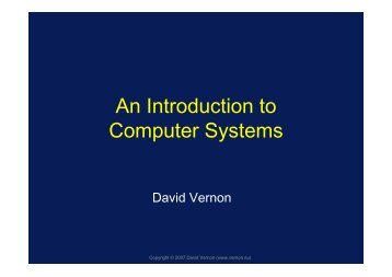 An Introduction to Computer Systems - David Vernon