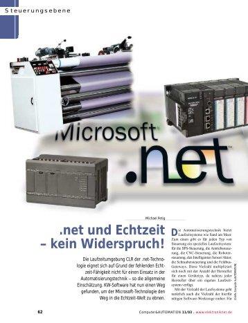 .net und Echtzeit – kein Widerspruch! - KW-Software